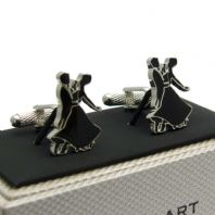 Ballroom Dancing Cufflinks by Onyx Art in Gift Box CK894